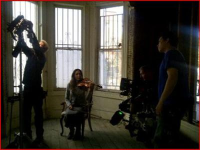 Filming the music video for Rocio's song Leaving Dreams